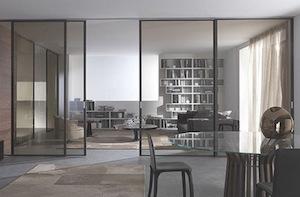 Использование стеклянных дверей и перегородок в интерьере