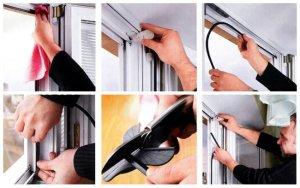 Как самостоятельно заменить уплотнители на окнах